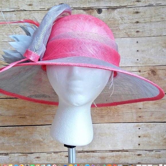August Hat Company Womens Hat Pink Gray Lt Burlap e24b332c2849